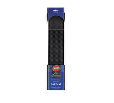Tablecraft H752BK 15-in Cash & Carry Black Rubber Bar Mat