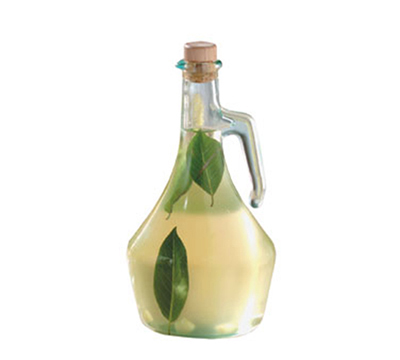 Tablecraft H9222 17-oz Portabella Green Glass Olive Oil Bottle w/ Cork Stopper