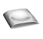 "Tablecraft HB3 5"" Square Spoon Rest - Brushed Stainless"
