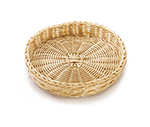 "Tablecraft HM1169W Round Basket, 12 x 2"", Natural Polypropylene Cord"