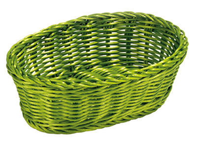 Tablecraft HM1174Y Oval Basket, 9-1/4 x 6-1/4 x 3-1/4-in, Yellow Polypropylene Cord