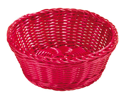 Tablecraft HM1175A Round Basket, 8-1/4 x 3-1/4-in, Assorted Color Polypropylene Cord
