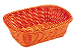 Tablecraft HM1185Y Rectangular Basket, 11.5 x 8.5 x 3.5-in, Yellow Polypropylene Cord