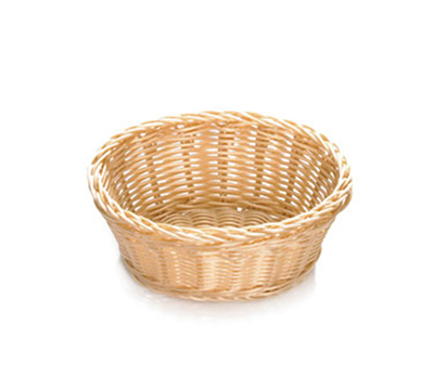 Tablecraft M1171W Natural Oval Basket, 7-1/2 x 5-1/2 x 3-1/4-in, Polypropylene