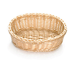 "Tablecraft M1176W Natural Oval Basket, 10 x 7 x 3-1/4"", Polypropylene, Solid Cord"