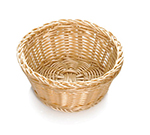 Tablecraft M1175W Natural Round Basket, 8-1/4 x 3-1/4-in, Polypropylene, Solid Cord