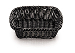 Tablecraft M1185W Natural Rectangular Basket, 11.5 x 8.5x 3.5-in, Polypropylene