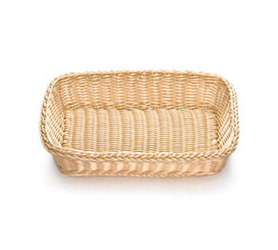 "Tablecraft M1189W Natural Rectangular Basket, 16 x 11-3/4 x 3-1/2"", Polypropylene"
