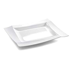 "Tablecraft M1411BK Rectangular Frostone Tray - 14x11-1/4"" Melamine, Black"