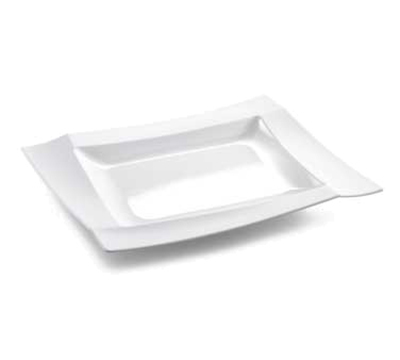 "Tablecraft M1613 Rectangular Frostone Tray - 16x13"" Melamine, White"