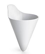 "Tablecraft M57W 7"" Conical French Fry Holder - White"