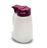 Tablecraft MW32A 32-oz Polyethylene Option Dispenser w/ Assorted Color ABS Top