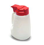 Tablecraft MW32R 32-oz Polyethylene Option Dispenser w/ Red ABS Top
