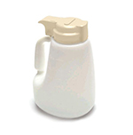 Tablecraft MW48BE 48-oz Polyethylene Option Dispenser w/ Beige ABS Top