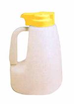 Tablecraft MW64Y 64-oz Polyethylene Option Dispenser w/ Yellow ABS Top