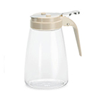 Tablecraft P10A 10-oz Polycarbonate Dispenser w/ Almond ABS Top