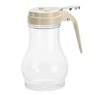 Tablecraft P410A 10-oz Polycarbonate Teardrop Dispenser w/ Almond ABS Top