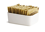 Tablecraft P56 White Porcelain Sugar Packet Holder, 4 x 2-1/4 x 1-1/2-in