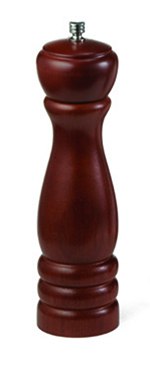 Tablecraft PM1908 8-in Mahogany Wood Finish Pepper Mill