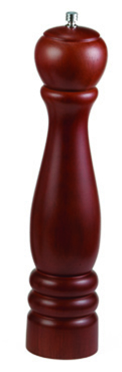 "Tablecraft PM1912 12"" Mahogany Wood Finish Pepper Mill"