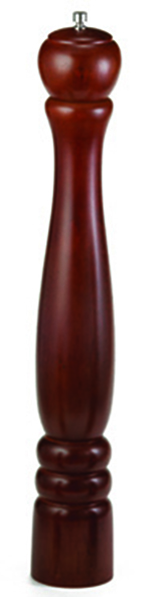 "Tablecraft PM1918 18"" Mahogany Wood Finish Pepper Mill"