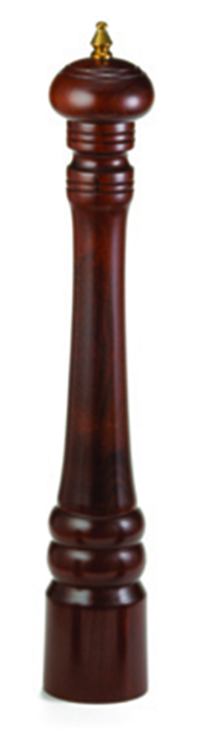 Tablecraft PM2110 10-in Walnut Wood Finish Pepper Mill