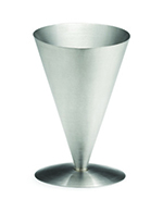 Tablecraft R57 Stainless Steel Fry Cone, 4-1/2 x 7""