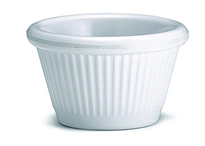 Tablecraft RAM15FW 1-1/2-oz Fluted White Melamine Ramekin