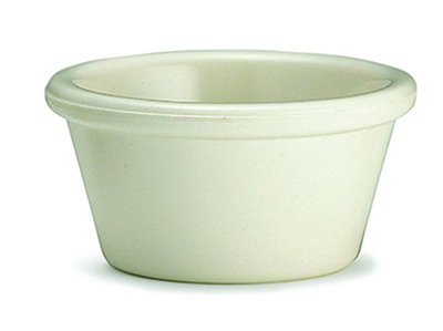 Tablecraft RAM2B 2-oz Plain Bone Melamine Ramekin