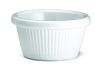 Tablecraft RAM2FW 2-oz Fluted White Melamine Ramekin