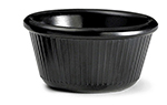 Tablecraft RAM3FBK 3-oz Fluted Black Melamine Ramekin