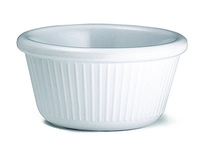 Tablecraft RAM3FW 3-oz Fluted White Melamine Ramekin