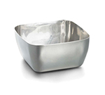 "Tablecraft RB42 4-1/4"" Square Bowl - Brushed Stainless"