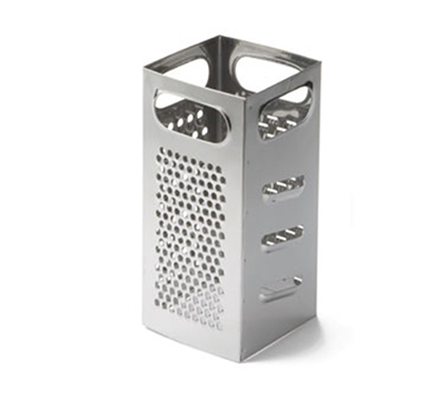 Tablecraft SG201 Stainless Steel Square Grater, 4 x 4 x 9""