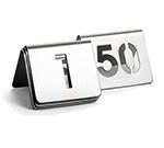 "Tablecraft TC150 Tabletop Number Cards - #1-50, 2.5"" x 2.5"", Stainless"
