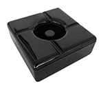 Tablecraft WPA5BK Windproof Melamine Ashtray, Square, 5-in, Black