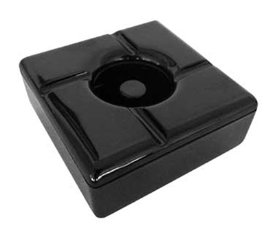 "Tablecraft WPA5BK Windproof Melamine Ashtray, Square, 5"", Black"