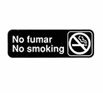 Tablecraft 394589 3 x 9-in Sign, No Fumar / No Smoking - Spanish/English