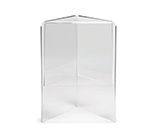 Tablecraft 50703 Acrylic Menu Holder, 5 x 7-in, Three-Sided