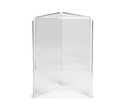 "Tablecraft 50703 Acrylic Menu Holder, 5 x 7"", Three-Sided"
