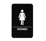 Tablecraft 695634 6 x 9-in Sign, Women Symbol, White On Black