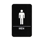 Tablecraft 695635 6 x 9-in Sign, Men Symbol, White on Black