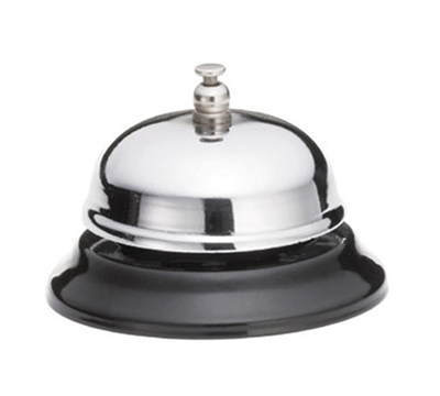 "Tablecraft 8381 3"" Chrome Plated Call Bell"