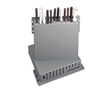 "Tablecraft PKR-1 ABS Plastic Knife Rack, 15 x 16 x 3"" Deep, Holds 12 Knives"