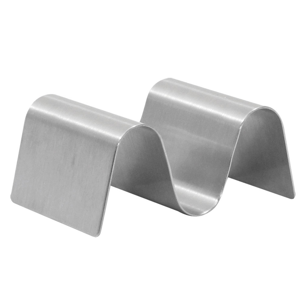 Tablecraft TRS12 Taco Holder - Holds 1-2 Tacos, Solid, Stainless