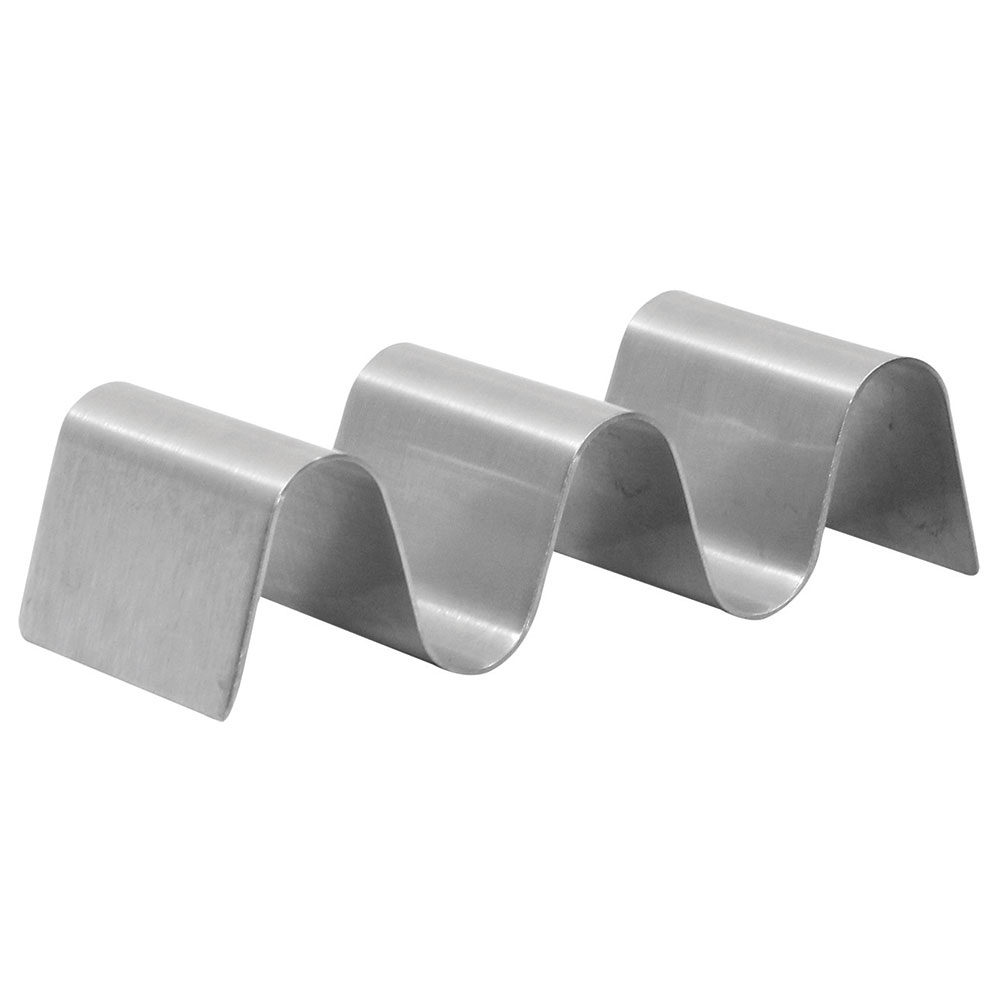 Tablecraft TRS23 Taco Holder - Holds 2-3 Tacos, Solid, Stainless