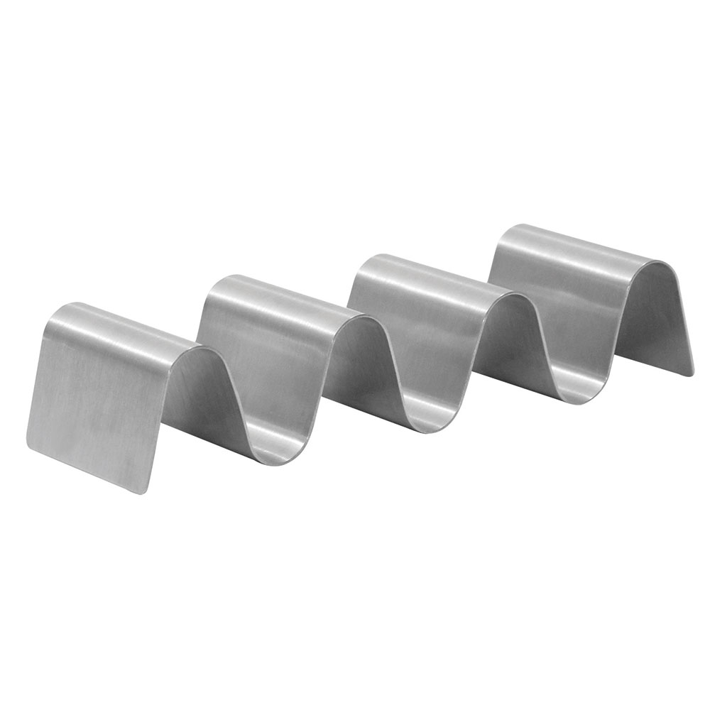Tablecraft TRS34 Taco Holder - Holds 3-4 Tacos, Solid, Stainless