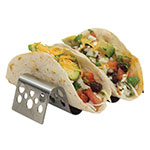 Tablecraft TRSP23 Taco Holder - Holds 2-3 Tacos, Solid Pattern, Stainless