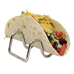 Tablecraft TRW12 Taco Holder - Holds 1-2 Tacos, Wire, Stainless