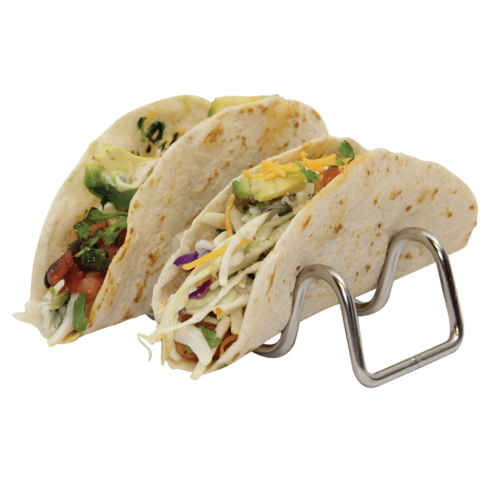 Tablecraft TRW23 Taco Holder - Holds 2-3 Tacos, Wire, Stainless